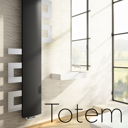 Totem design decorative towelwarmer radiators