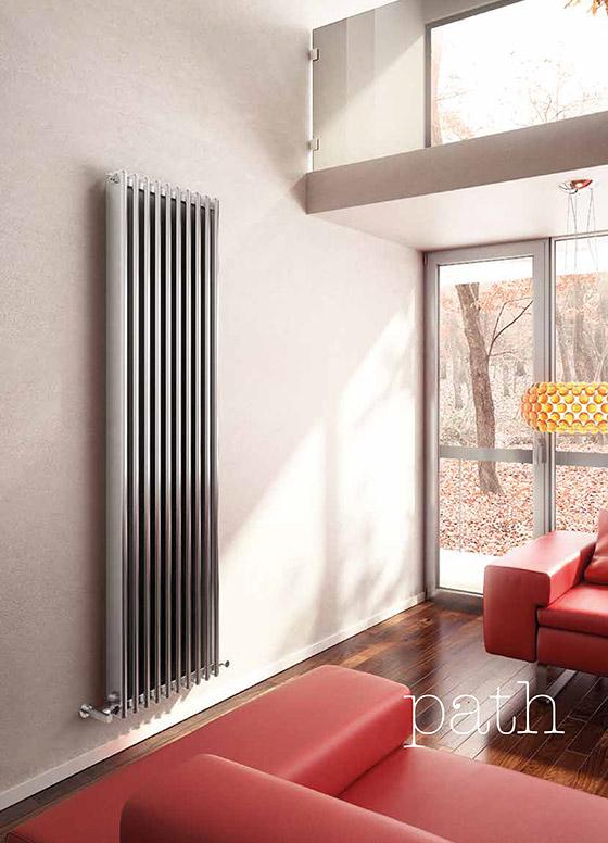 Path decorative design radiator